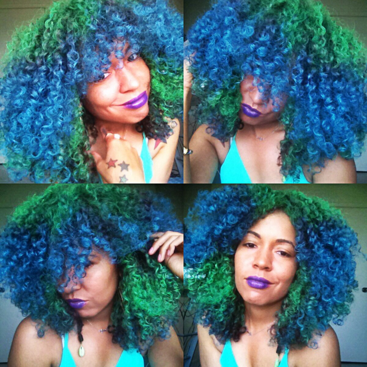 Beyond The Zone Color Bomb Green Turquoise I Rock My Natural